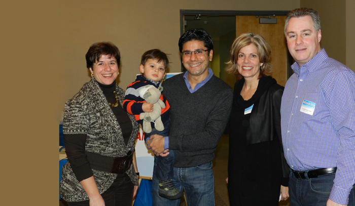President and CEO Andrea Freedman with city of Ottawa councillors (and family!)