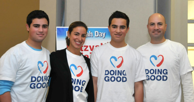 The Melamed Family: Jacob, Linda, Michael and Warren - chairs of Mitzvah Day 2014.