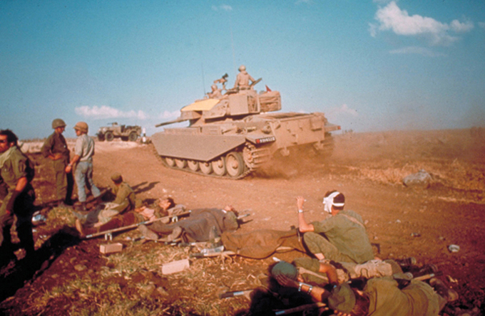 Israeli tanks and wounded soldiers from 1967
