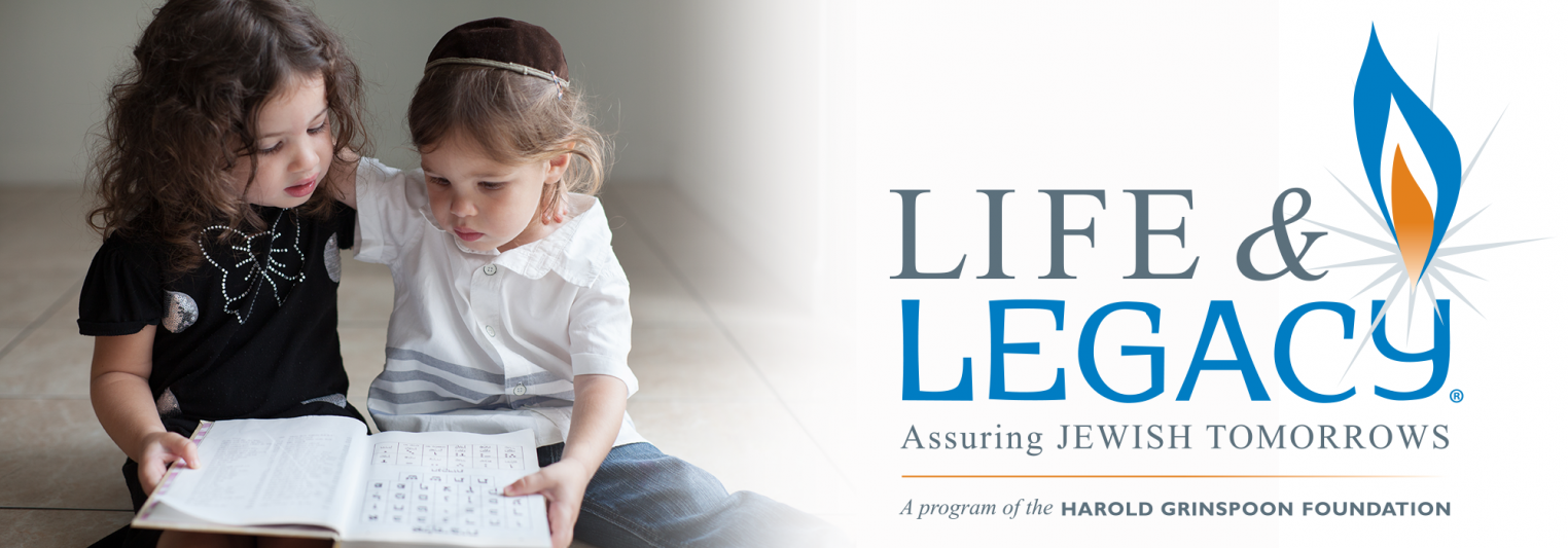 LIFE & LEGACY logo with a picture of 2 young boys reading