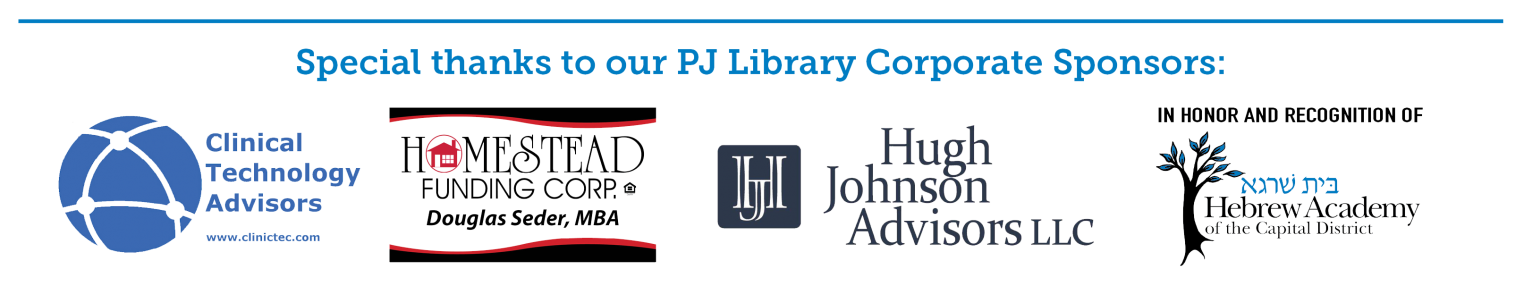 PJ Library of Northeastern New York program sponsor logos