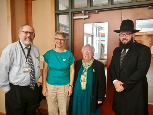 Three local Rabbis with Rabbi Mike Moskowitz