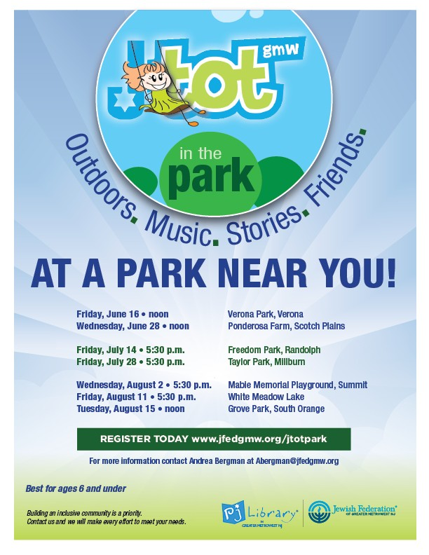 JTot in the Park - Millburn | Jewish Federation of Greater