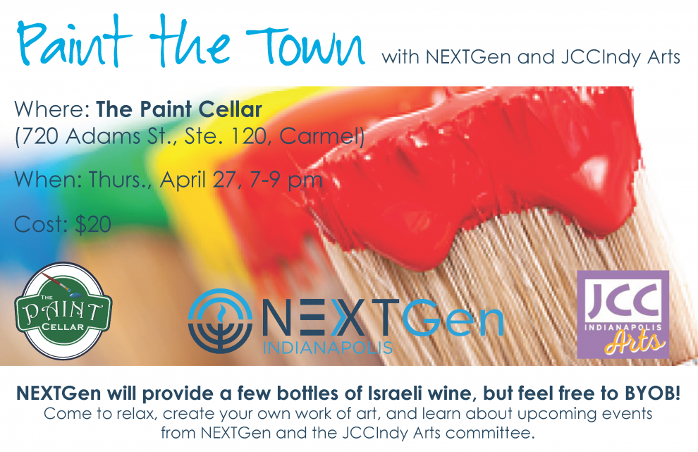 Join us at the Paint Cellar in Carmel for a fun night of painting while you sip some wine or your favorite drink.  sc 1 st  Jewish Federation of Greater Indianapolis & Paint the Town with NEXTGen and JCCIndy Arts | Jewish Federation of ...