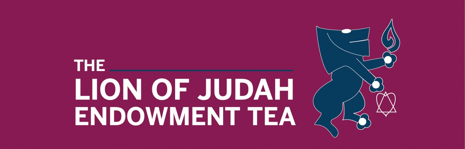 a banner that says lion of judah endowment tea event