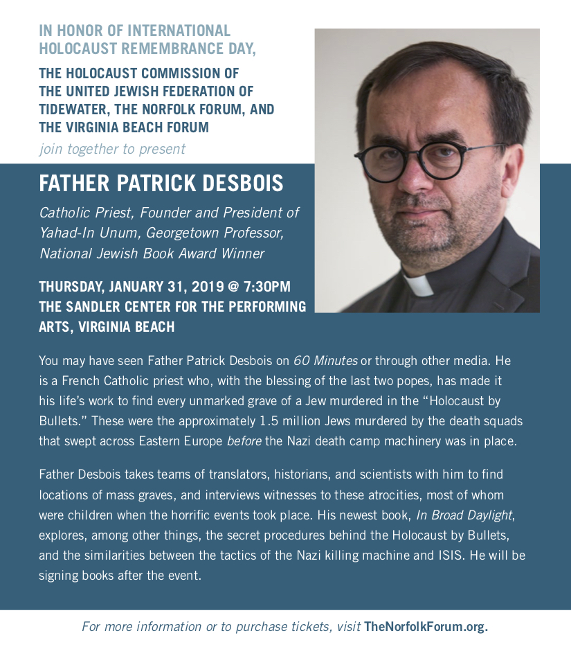 Holocaust By Bullets - Father Patrick Desbois | federation jewishva org
