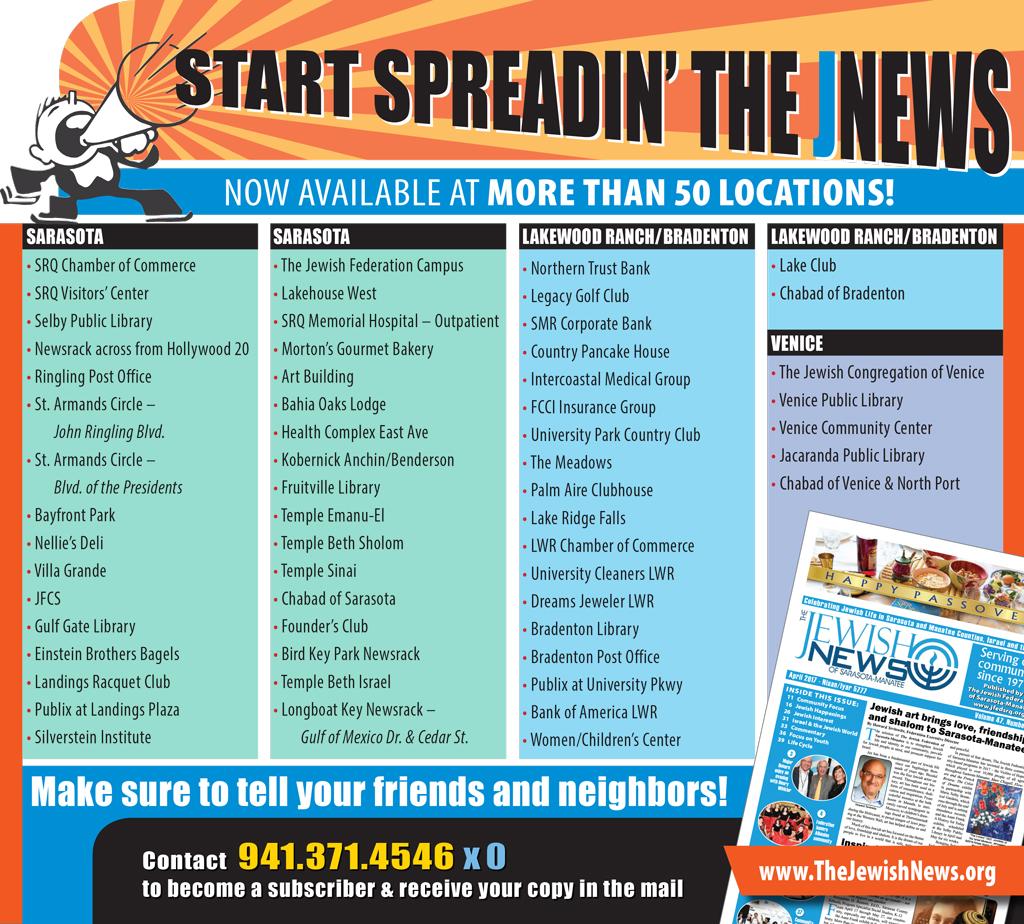 CONNECTIONS MAGAZINE | The Jewish Federation of Sarasota-Manatee