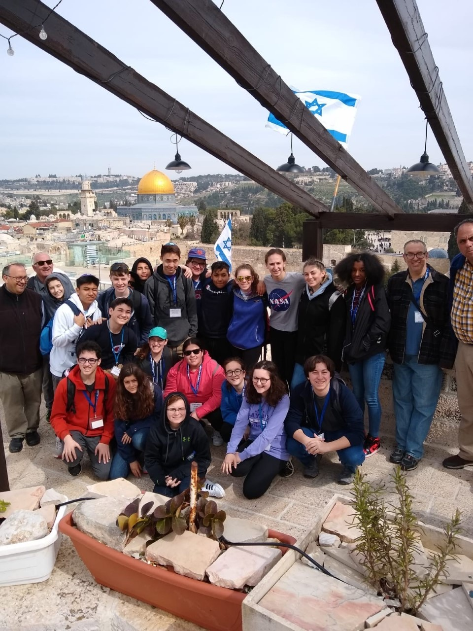 Group of teens and adults in Israel