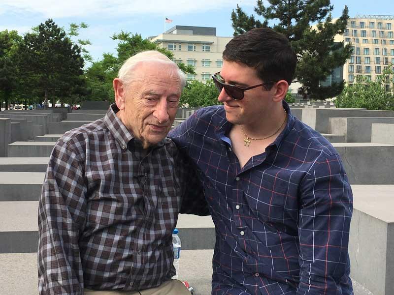 Fred and Howard at Holocaust Memorial