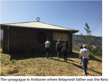 The synagogue in Ambover where Belaynesh father was the Kess