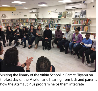 Visiting the library of the Vitkin School in Ramat Eliyahu