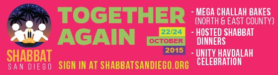 together again - shabbat san diego
