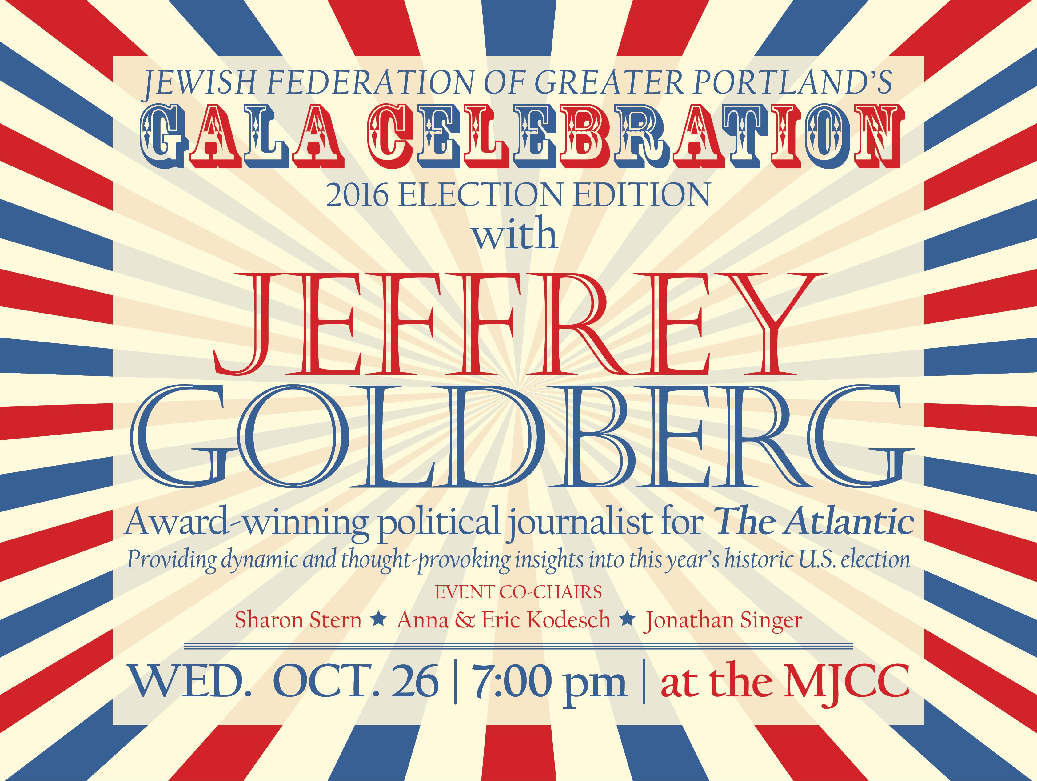 Jewish Federation Gala with Jeffrey Goldberg