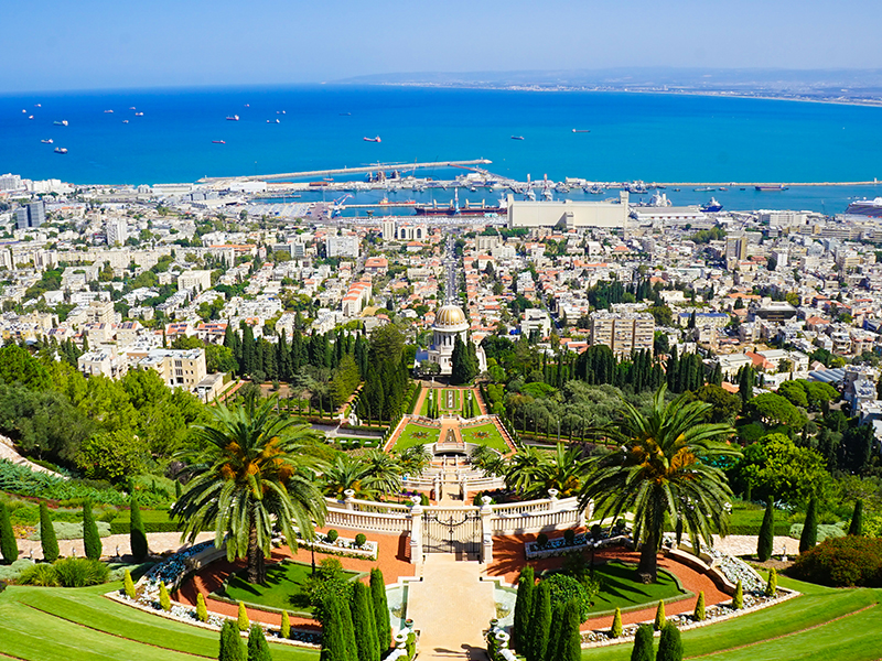 The landscape of Haifa