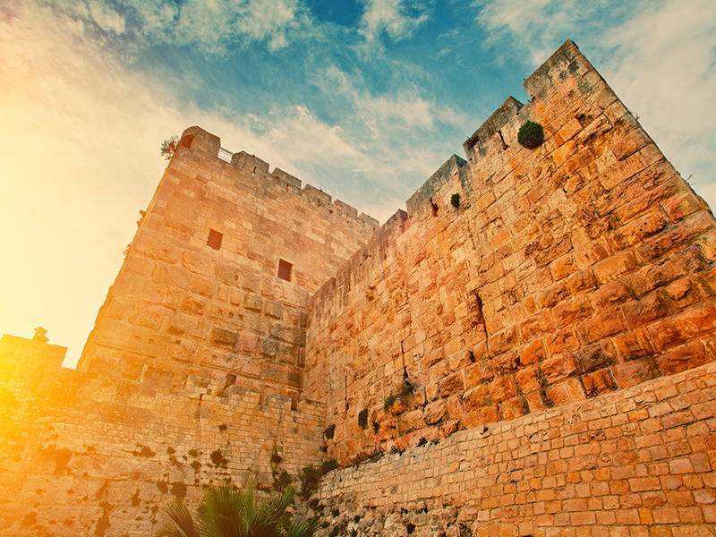 The walls from the old city