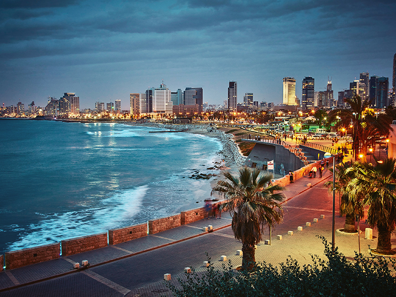 The skyline of Tel Aviv