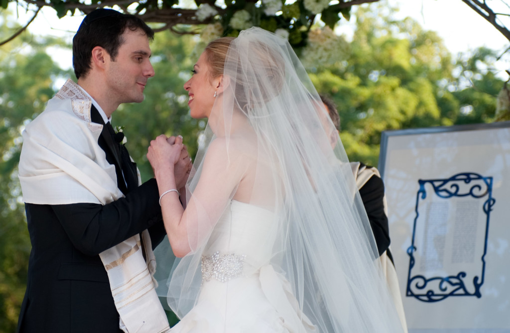 Marc Mezvinsky and Chelsea Clinton at their wedding, July 31, 2010.