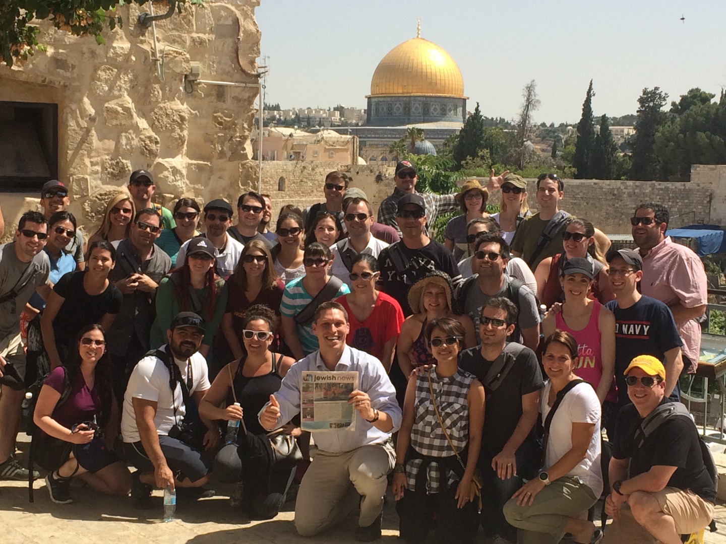 The Phoenix group from one of the pilot Honeymoon Israel trips gathers in Jerusalem, May 2015.