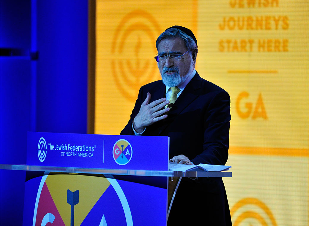 general assembly photo gallery the jewish federations of north rabbi lord jonathan sacks offers words of wisdom at the opening plenary