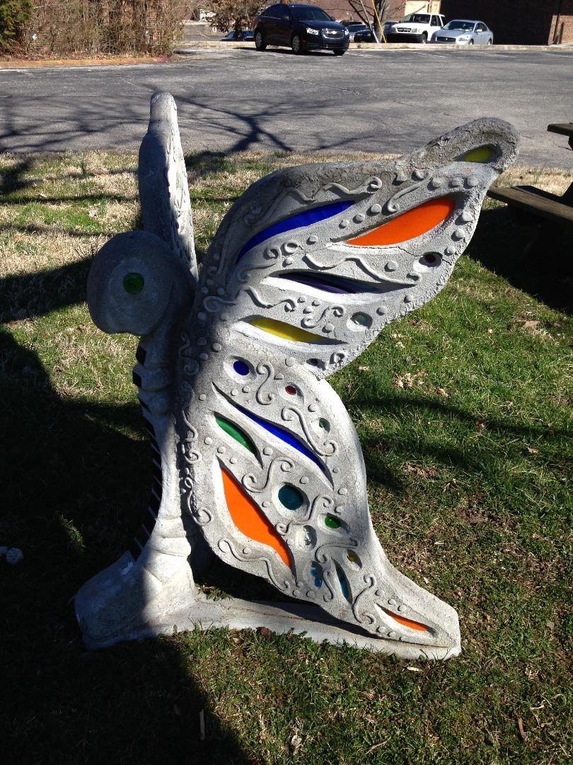 Camp Tikkun Olam Butterfly Sculpture at AJCC