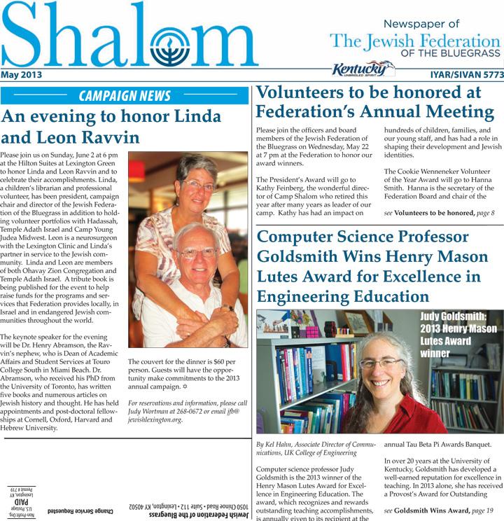 May 2013 Shalom