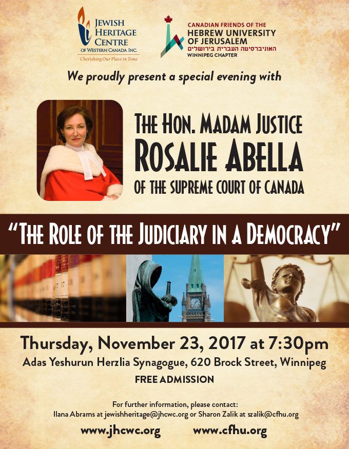 The Role of the Judiciary in a Democracy | Jewish Federation of Winnipeg