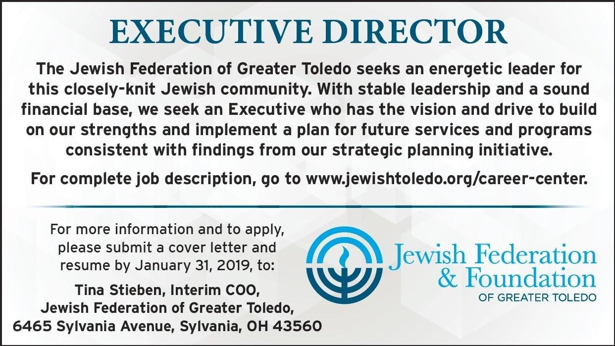 Executive Director - Jewish Federation of Greater Toledo | Jewish ...